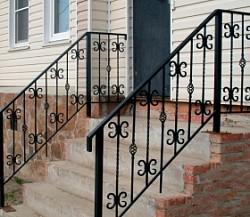 Кованые и сварные перила для лестниц
